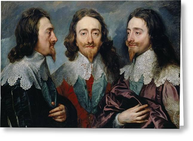 Charles I,  Anthony Van Dyck, 1635 -1636 Greeting Card