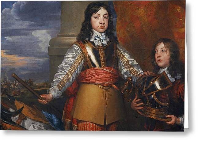 Charles II, 1630 - 1685. King Of Scots 1649 - 1685. King Of England And Ireland 1660 - 1685 Greeting Card