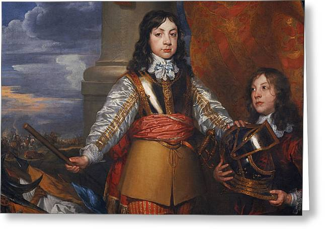 Charles II - King Of Scots And King Of England Greeting Card by Mountain Dreams