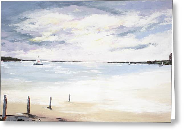 Charles Island At Low Tide Greeting Card by Marcia Crispino