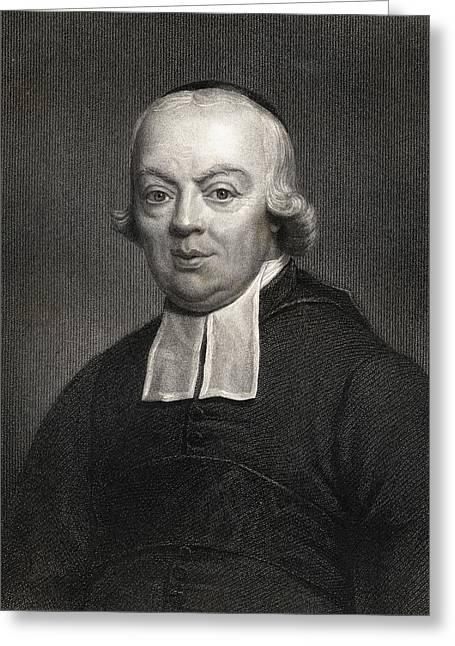 Charles Michel De L Ep E.1712-1789, Abb Greeting Card by Vintage Design Pics