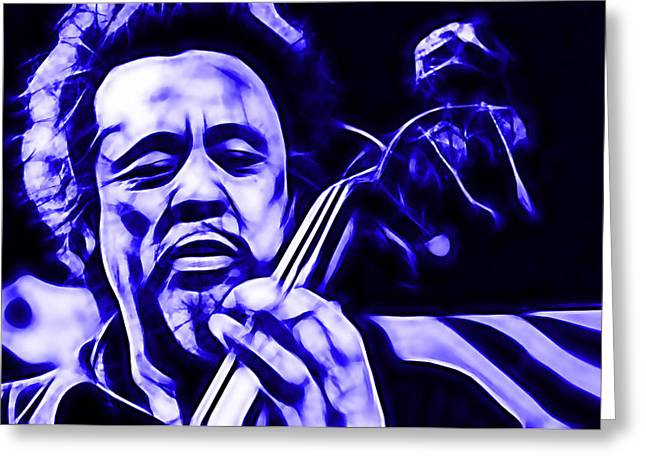 Charles Mingus Collection Greeting Card by Marvin Blaine