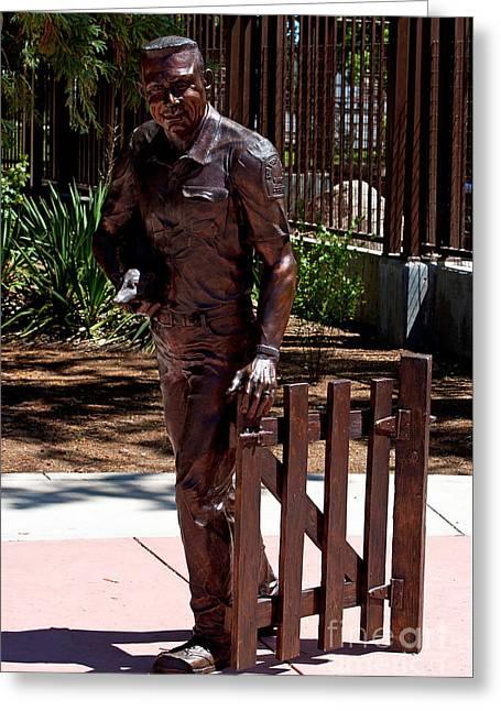 Charles Paddock Zoo Statue Greeting Card