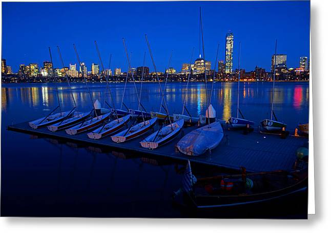 Charles River Boats Greeting Card by Toby McGuire