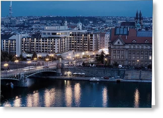 Charles University   Intercontinental Hotel Prague_tonemapped_tonemapped Greeting Card by Isaac Silman