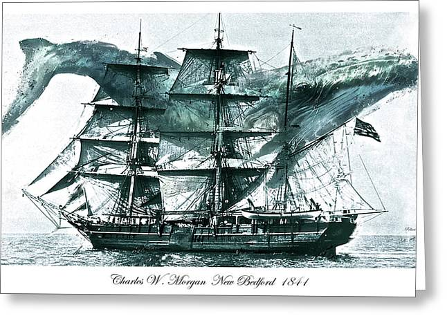 Charles W. Morgan, Whaling Ship, 1841 Greeting Card