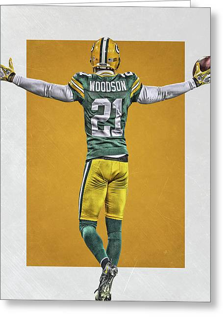 Charles Woodson Green Bay Packers Art 2 Greeting Card
