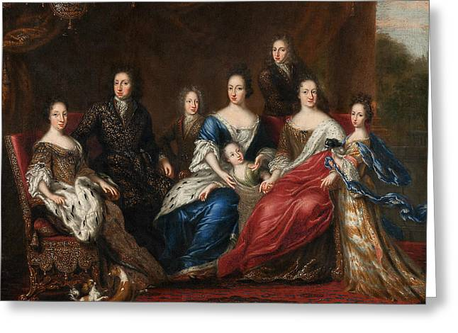 Charles Xi's Family With Relatives From The Duchy Holstein-gottorp Greeting Card by David Klocker Ehrenstrahl