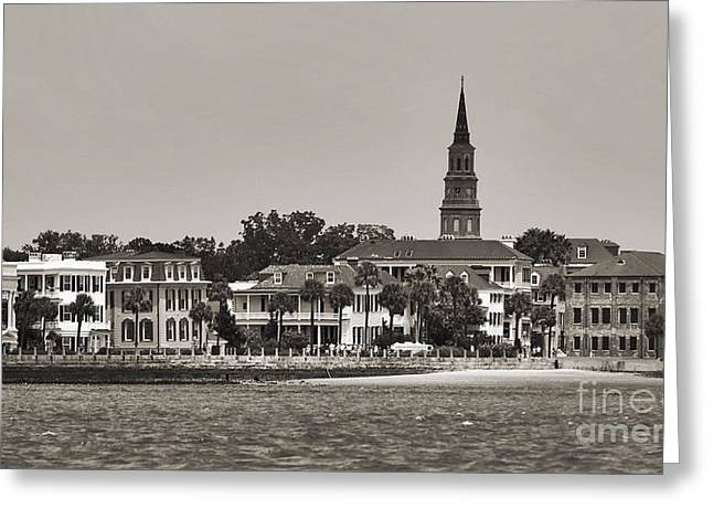 Charleston Battery South Carolina Sepia Greeting Card