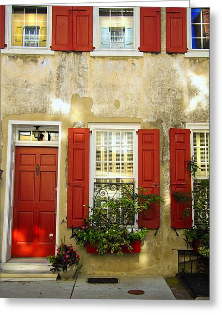 Charleston Charm Greeting Card by Wendy Mogul