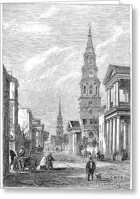 Charleston: Church, 1861 Greeting Card by Granger