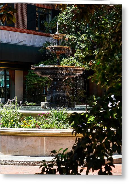Charleston Fountain Greeting Card by Gestalt Imagery