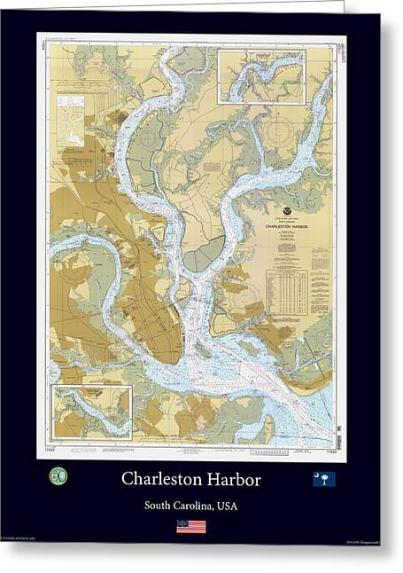 Charleston Harbor Greeting Card by Adelaide Images