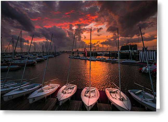 Greeting Card featuring the photograph Charleston Harbor by RC Pics