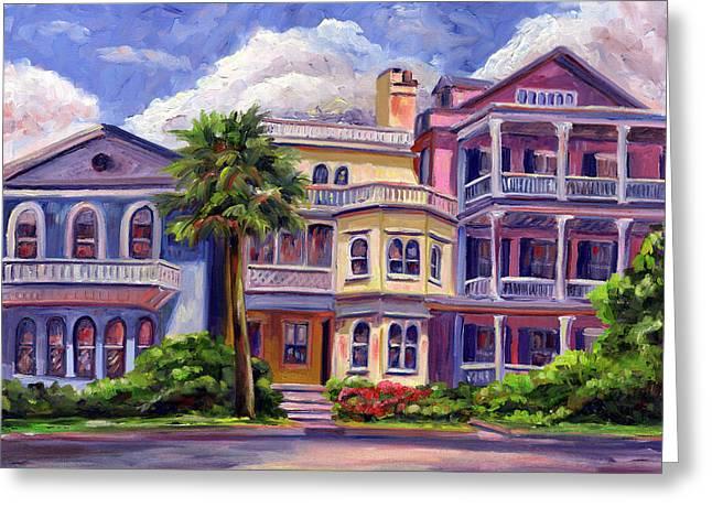 Charleston Greeting Cards - Charleston Houses Greeting Card by Jeff Pittman