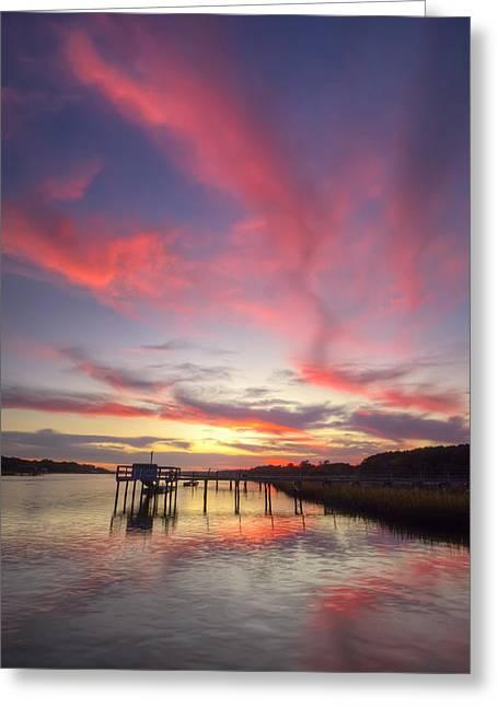 Charleston Greeting Cards - Charleston Lowcountry Sunset Greeting Card by Dustin K Ryan