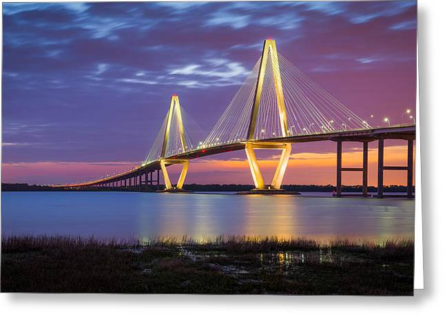 Charleston Sc Arthur Ravenel Jr Bridge Greeting Card