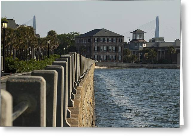 Charleston South Carolina Waterfront Battery Greeting Card by Dustin K Ryan
