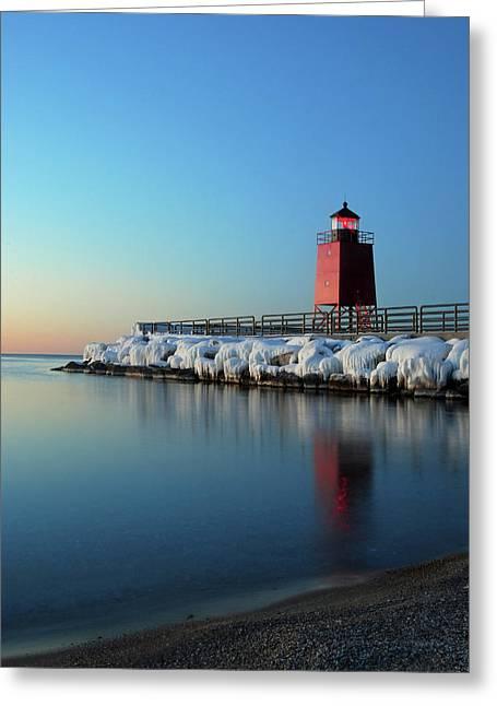 Charlevoix Harbor Light Greeting Card