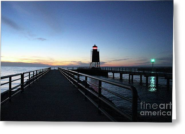Charlevoix Light Tower Greeting Card