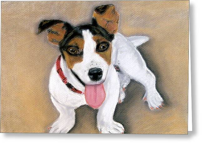 Greeting Card featuring the pastel Charley by Jan Amiss