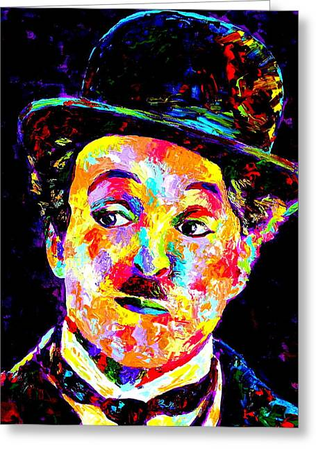 Mike Obrien Greeting Cards - Charlie Chaplin  Greeting Card by Mike OBrien