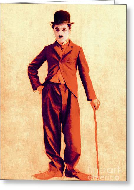 Charlie Chaplin The Tramp 20130216p68 Greeting Card