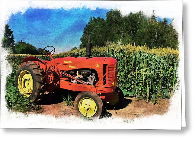 Charlie The Tractor Greeting Card by Richard Farrington