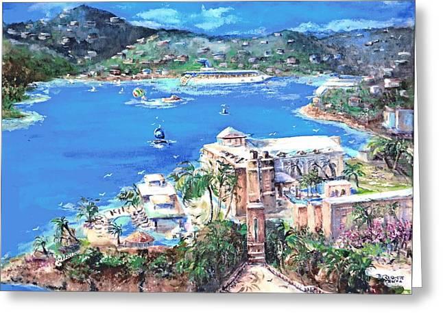 Charlotte Amalie Marriott Frenchmans Beach Resort St. Thomas Us Virgin Island Aerial Greeting Card