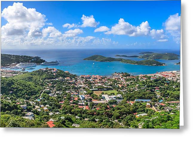Charlotte Amalie St. Thomas In The Caribbean Greeting Card by Keith Allen