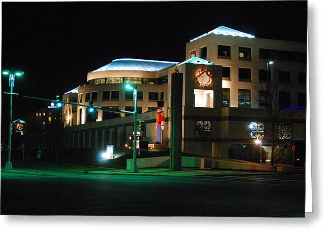Charlotte Building Greeting Card by Steavon Horne