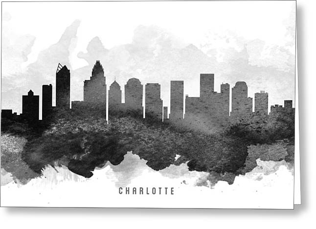 Charlotte Cityscape 11 Greeting Card by Aged Pixel