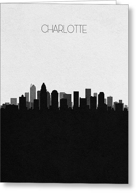 Charlotte Cityscape Art Greeting Card