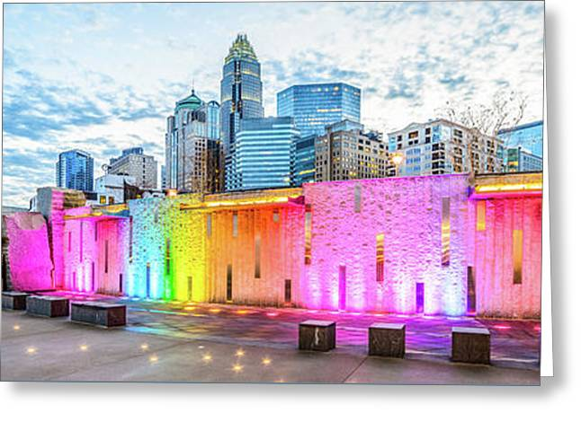 Charlotte Nc Skyline Panorama Photo Greeting Card by Paul Velgos