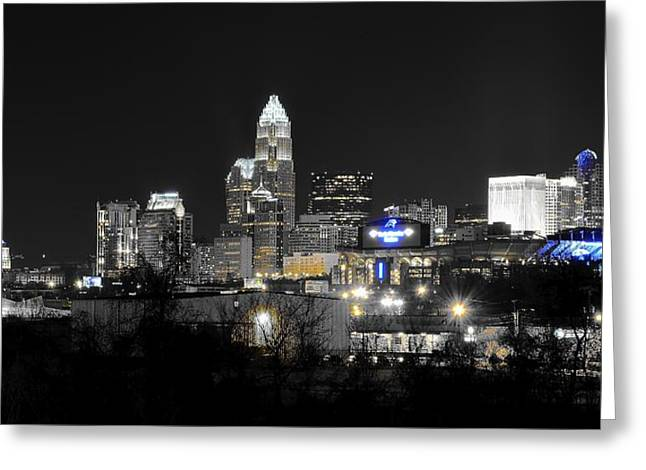 Charlotte Night Panorama Greeting Card by Frozen in Time Fine Art Photography