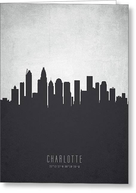 Charlotte North Carolina Cityscape 19 Greeting Card