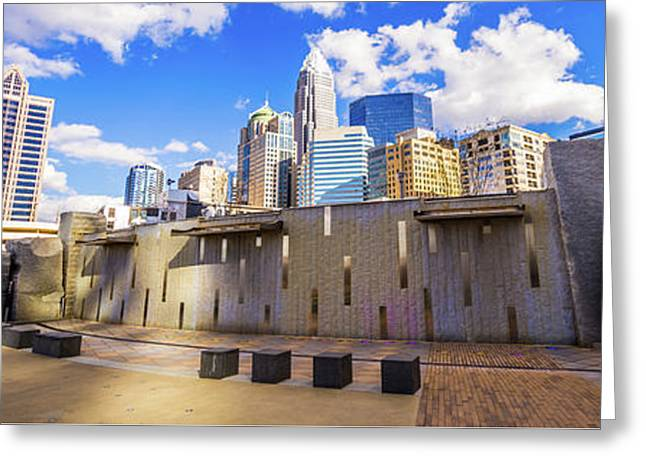 Charlotte North Carolina Panorama Photo Greeting Card by Paul Velgos