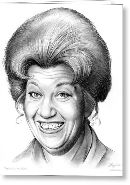 Charlotte Rae Greeting Card by Greg Joens