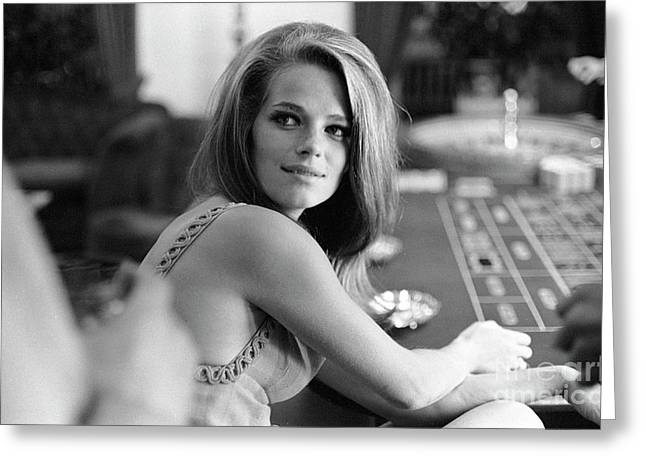 Charlotte Rampling Gambling At The Pair Of Shoes Greeting Card