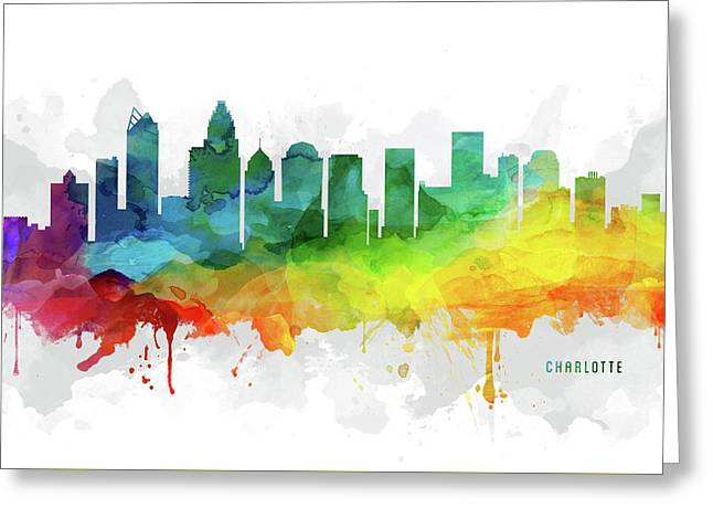 Charlotte Skyline Mmr-usncch05 Greeting Card