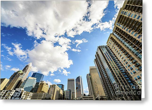 Charlotte Skyline Ultra Wide Angle Photo Greeting Card by Paul Velgos