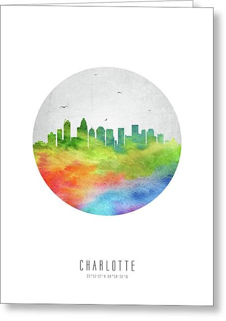 Charlotte Skyline Usncch20 Greeting Card