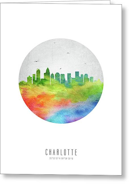 Charlotte Skyline Usncch20 Greeting Card