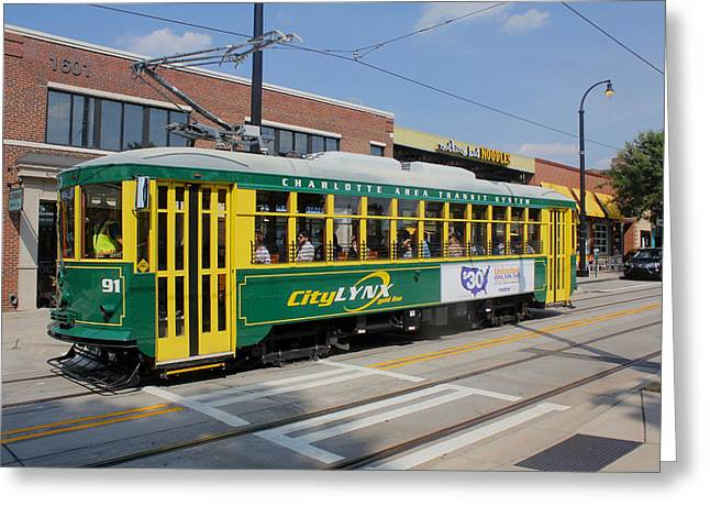 Charlotte Streetcar Line 4 Greeting Card by Joseph C Hinson Photography