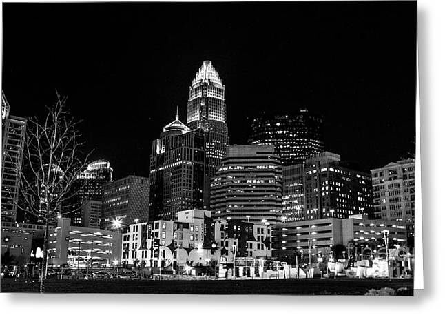 Charlotte The Queen City Greeting Card by Robert Yaeger