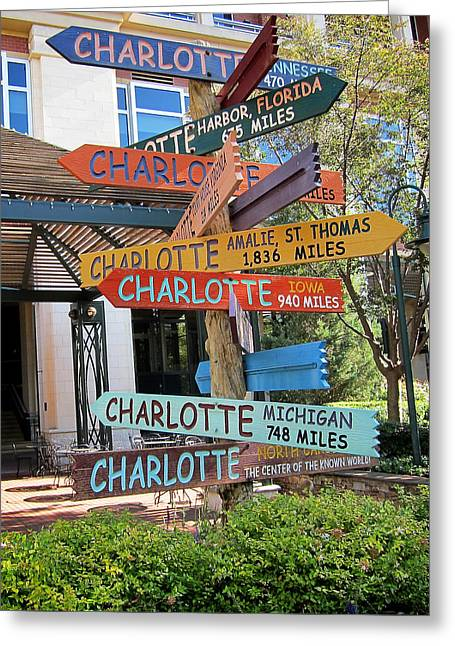 Charlotte Where Are You? Greeting Card by Mary Lee Dereske