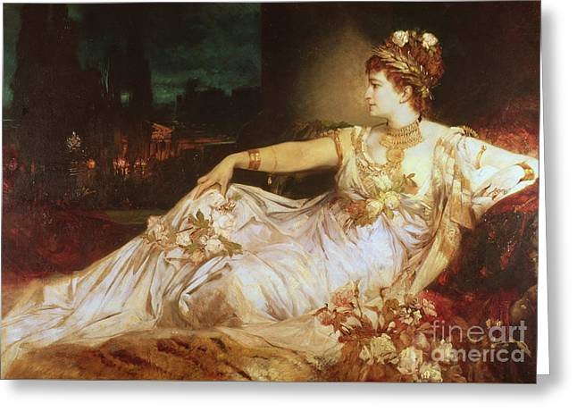 Charlotte Wolter As The Empress Messalina Greeting Card