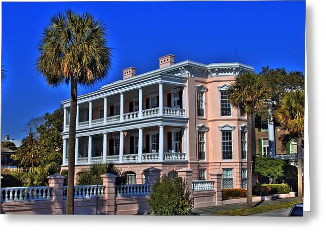 Charlston Battery Mansion Greeting Card by Corky Willis Atlanta Photography