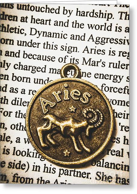 Charm Of Aries Greeting Card