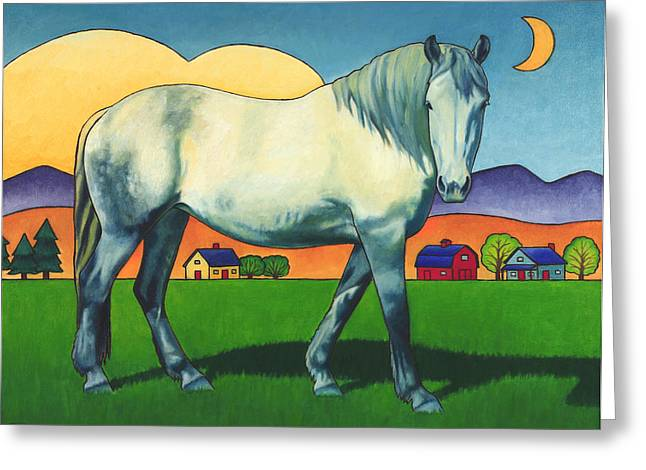 Mare Greeting Cards - Charmeon Greeting Card by Stacey Neumiller